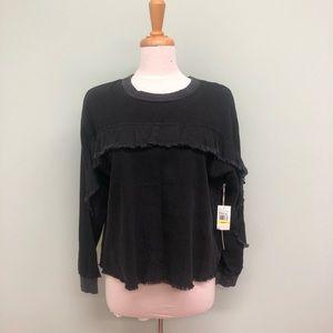Two by Vince Camuto | Women's Ruffle Shirt | Black